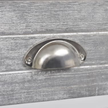vidaXL Nightstand with 1 Drawer Grey and White[6/6]
