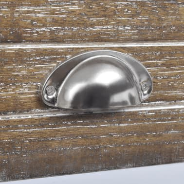 vidaXL Nightstand with 1 Drawer Brown and White[6/6]