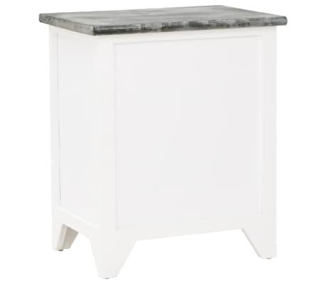 vidaXL Sängbord 2 st med 2 lådor grå och vit[6/7]