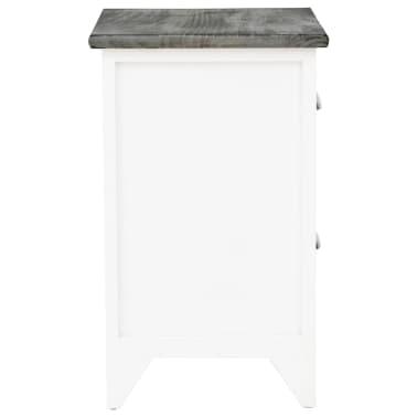 vidaXL Sängbord 2 st med 2 lådor grå och vit[7/7]