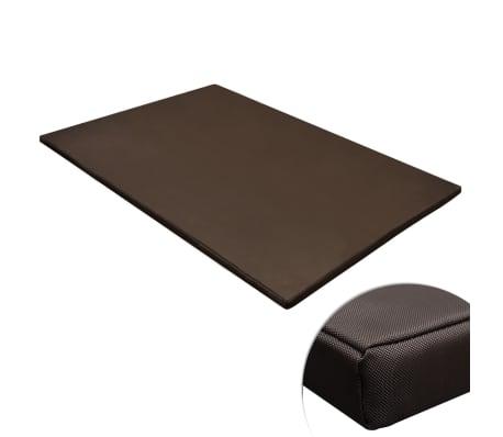 vidaXL suņu matracis, gulta, taisnstūra, brūns, XL izmērs