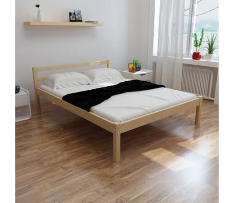 vidaxl bett mit matratze 140 200 cm massives kiefernholz g nstig kaufen. Black Bedroom Furniture Sets. Home Design Ideas