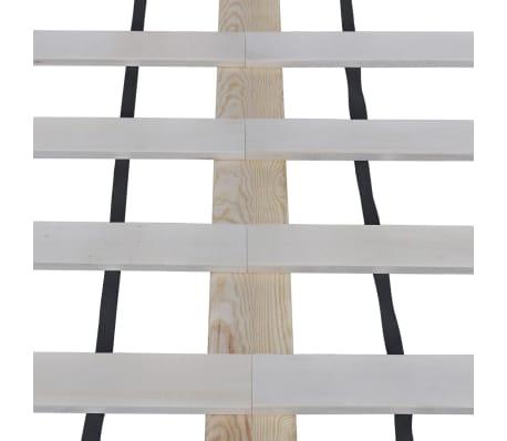 vidaXL Pat cu saltea, 140 x 200 cm, lemn de pin masiv[4/11]