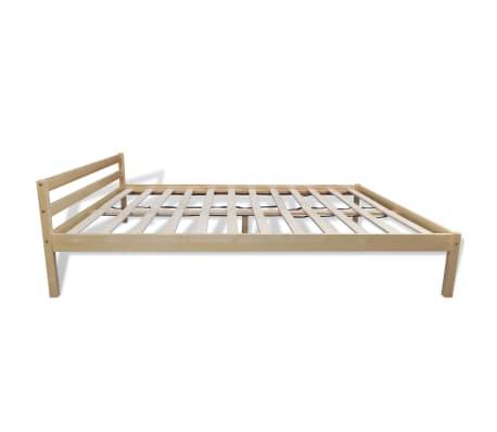 vidaXL Pat cu saltea, 140 x 200 cm, lemn de pin masiv[6/11]