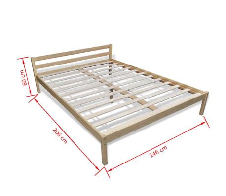 vidaXL Pat cu saltea, 140 x 200 cm, lemn de pin masiv[11/11]