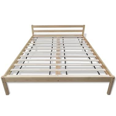 vidaXL Pat cu saltea, 140 x 200 cm, lemn de pin masiv[3/11]