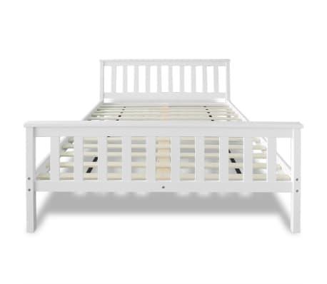 acheter vidaxl lit avec matelas 140 x 200 cm bois de pin massif blanc pas cher. Black Bedroom Furniture Sets. Home Design Ideas