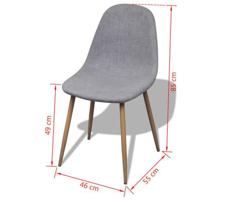 vidaxl esszimmerst hle 2 stk mit eisenbeinen stoffbezug hellgrau g nstig kaufen. Black Bedroom Furniture Sets. Home Design Ideas