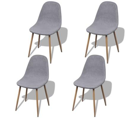 vidaxl esszimmerst hle 4 stk mit eisenbeinen stoffbezug hellgrau g nstig kaufen. Black Bedroom Furniture Sets. Home Design Ideas