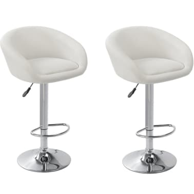 Set of 2 White Bar Stool Dallas[1/3]