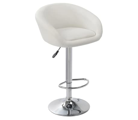 Set of 2 White Bar Stool Dallas[2/3]