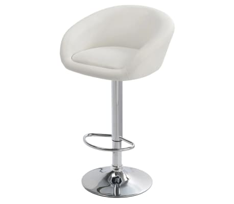 Set of 2 White Bar Stool Dallas[3/3]