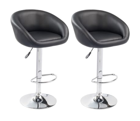 Set of 2 Black Bar Stool Dallas[1/3]