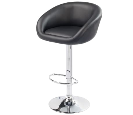 Set of 2 Black Bar Stool Dallas[3/3]