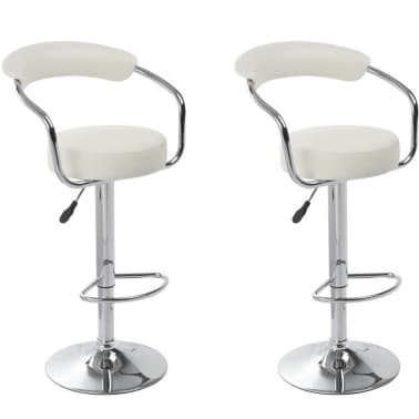 Set of 2 White Bar Stool Daytona[1/4]