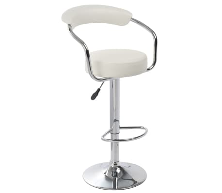 Set of 2 White Bar Stool Daytona[3/4]