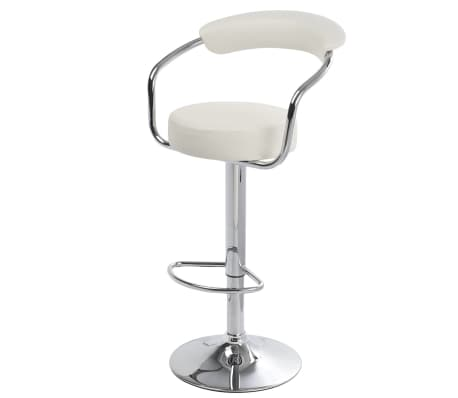 Set of 2 White Bar Stool Daytona[4/4]