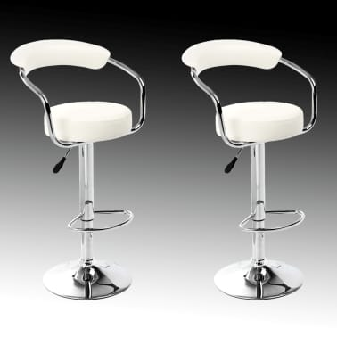 Set of 2 White Bar Stool Daytona[2/4]