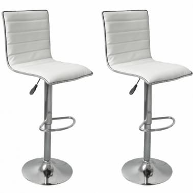 Set of 2 White Bar Stool Tabby[1/5]