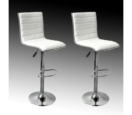 Set of 2 White Bar Stool Tabby[2/5]