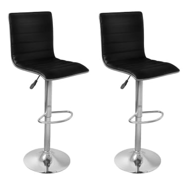 Set of 2 Black Bar Stool Tabby[1/4]