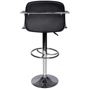 Set of 2 Black Bar Stool with Round Footrest[3/6]