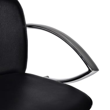 Set of 2 Black Bar Stool with Round Footrest[4/6]