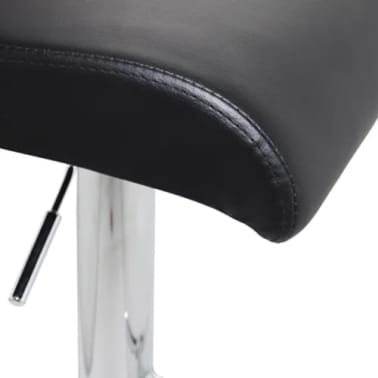 Set of 2 Black Bar Stool with T-bar Footrest[3/4]