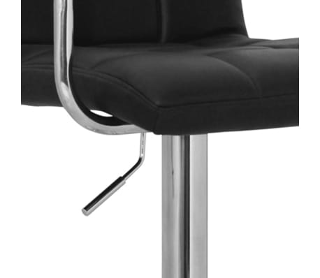 Set of 2 Black Bar Stool with Iron Armrest and High Backrest[3/4]