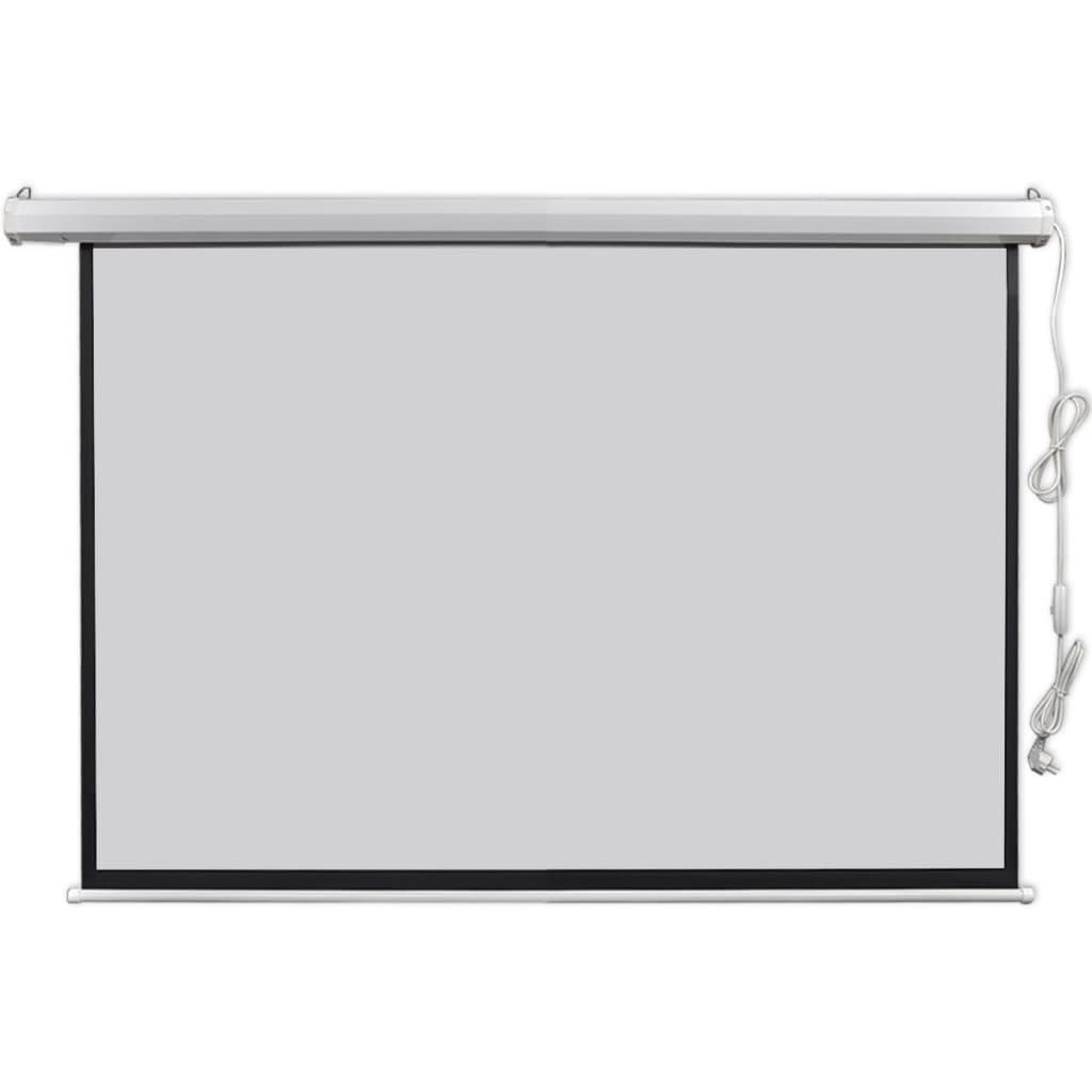 Afbeelding van vidaXL Projectiescherm elektrisch 160 x 90 cm 16:9 met een motor