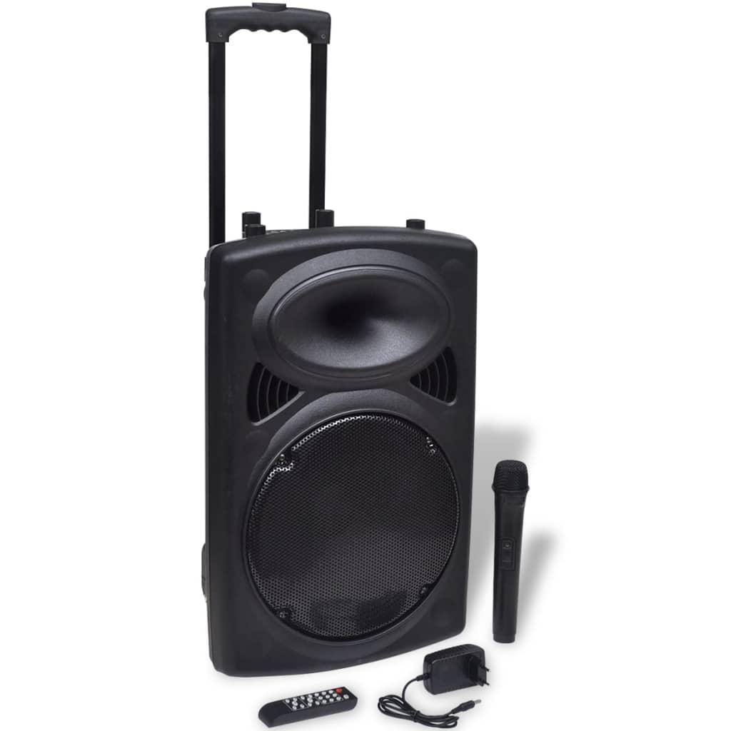 Afbeelding van vidaXL Speaker trolley draagbaar met microfoon