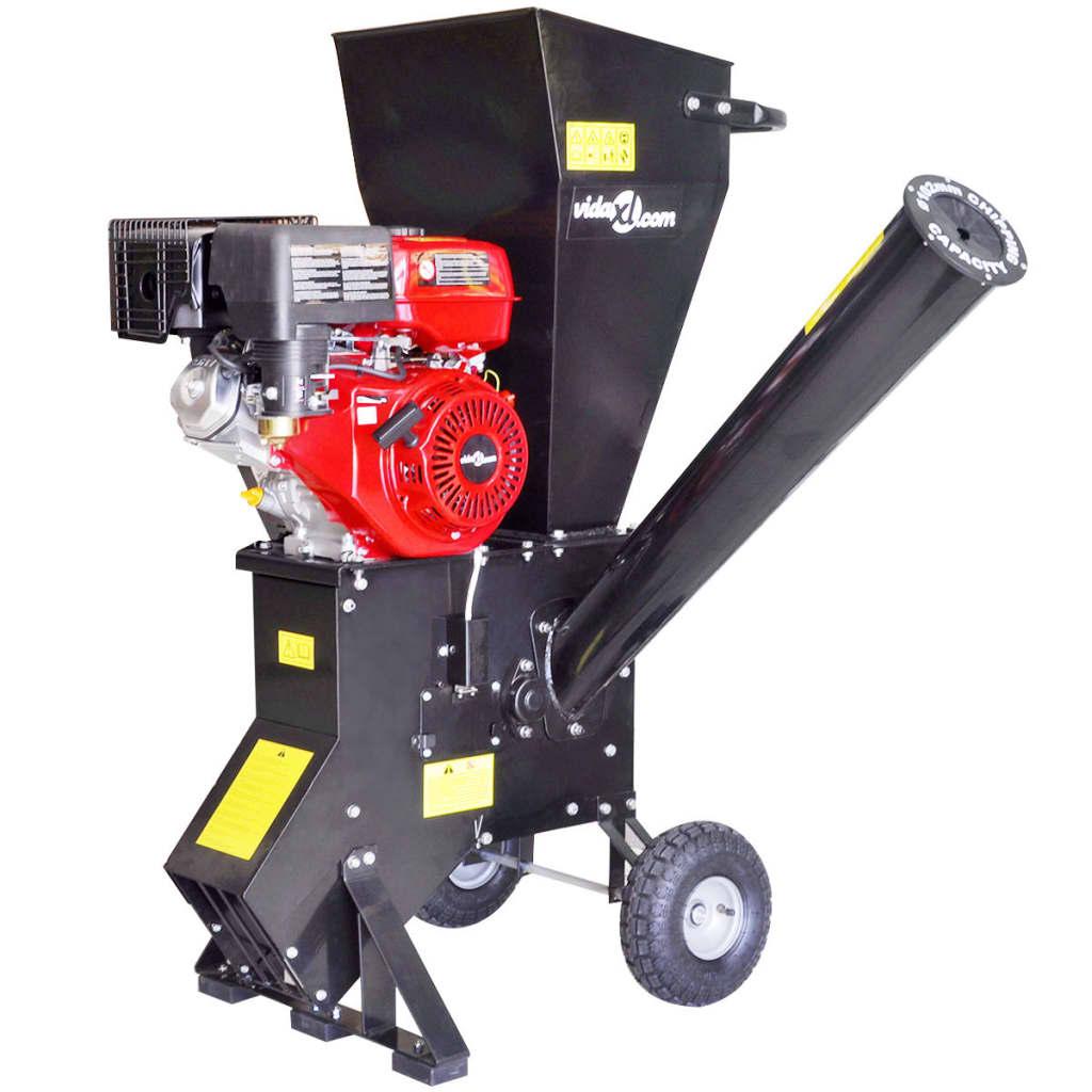 vidaXL Tocător de lemne alimentat cu benzină cu motor de 15 CP poza vidaxl.ro