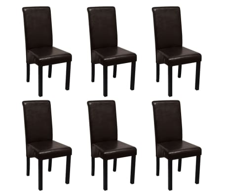6x kunstleder esszimmerstuhl stuhl set st hle polsterstuhl. Black Bedroom Furniture Sets. Home Design Ideas