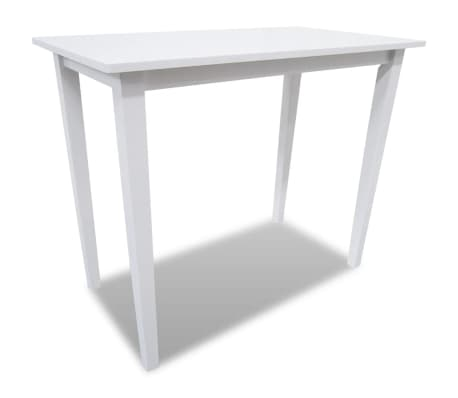 vidaXL Set Tavolo da bar cucina sala da pranzo legno bianco 4 sedie ...