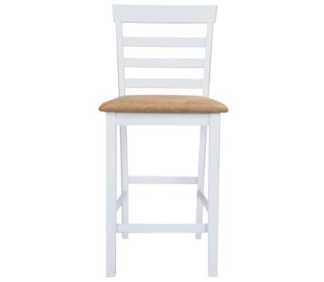 Bela visok lesen set barska miza in 4 barski stoli[4/9]