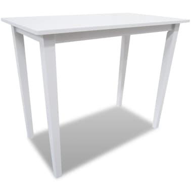 Bela visok lesen set barska miza in 4 barski stoli[2/9]
