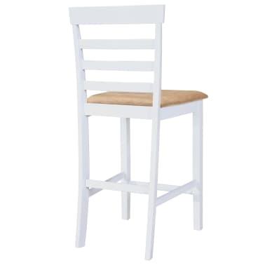 Bela visok lesen set barska miza in 4 barski stoli[6/9]