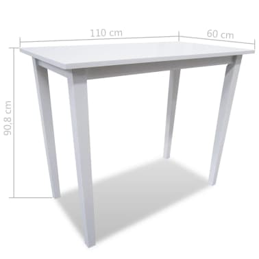 Bela visok lesen set barska miza in 4 barski stoli[8/9]