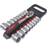 "19 pcs 1/2"" Drive Socket Set with Quick Release Ratchet Tool Set"