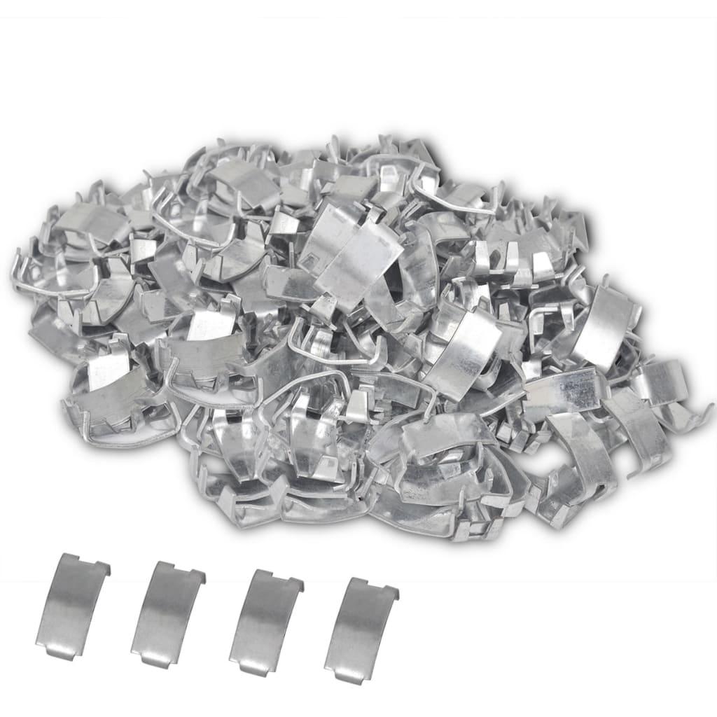 vidaXL 500 Dovetail Clips for NATO Razor Wire Galvanised Steel