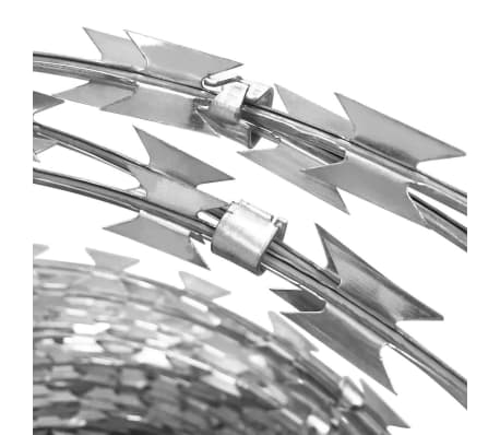 BTO-22 Clipped Concertina NATO Razor Wire Galvanized Steel 197'[3/5]