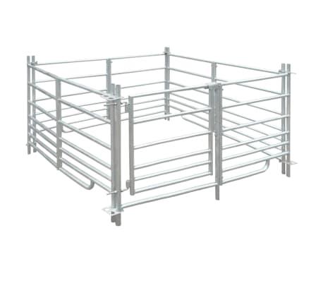 vidaXL Corral para ovejas de 4 paneles acero galvanizado 137x137x92 cm