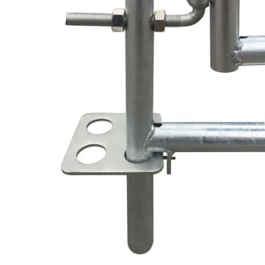 vidaXL Bergerie 4 panneaux Acier galvanisé 137 x 137 x 92 cm[3/4]