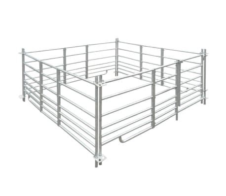 "4-Panel Sheep Pen Galvanized Steel 72""x72""x36.2""[1/4]"
