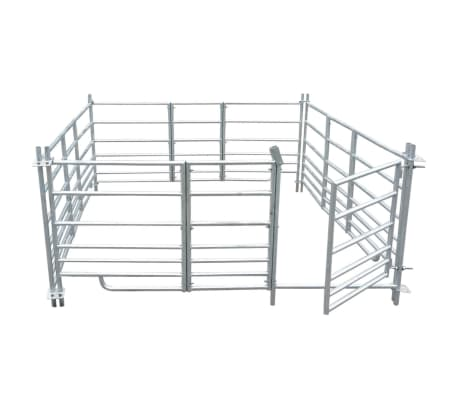 "4-Panel Sheep Pen Galvanized Steel 72""x72""x36.2""[2/4]"