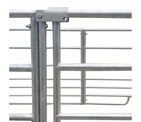 "4-Panel Sheep Pen Galvanized Steel 72""x72""x36.2""[4/4]"