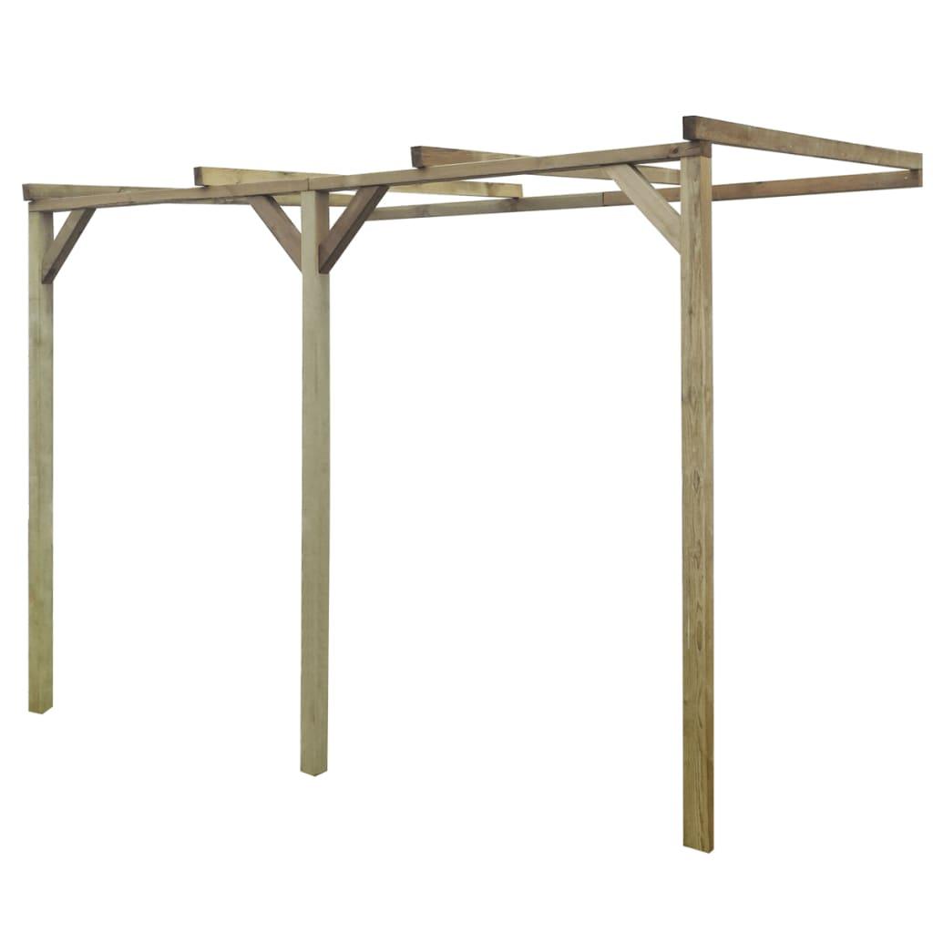 vidaXL Pergolă de perete, 2 x 3 x 2,2 m, lemn vidaxl.ro