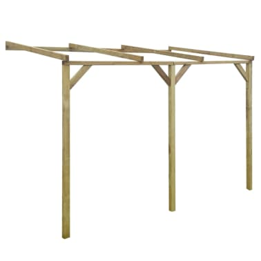 acheter pergola murale en bois 2 x 3 x 2 2 m pas cher. Black Bedroom Furniture Sets. Home Design Ideas