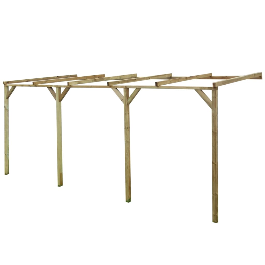 vidaXL Pergolă de perete, 2 x 5 x 2,2 m, lemn vidaxl.ro