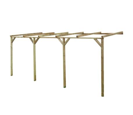 vidaXL Pérgola inclinada 2x5x2,2 m madeira